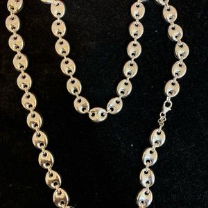 Jewelry - Gucci puff link sterling silver chain